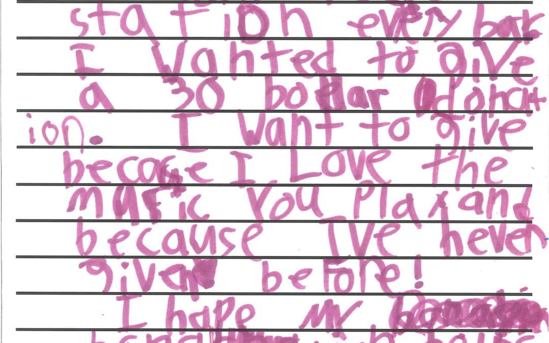 Taylor's Sweet Letter